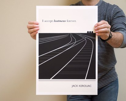 Jack Kerouac print from Obvious State