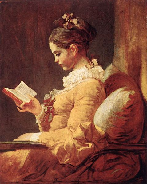 Reading Woman by Jean-Honore Fragonard [Public Domain image via Wikipedia Commons]
