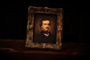 Edgar Allan Poe Painting-1-inch Scale Dollhouse Miniature by Particularly Unusual