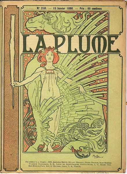 La Plume, 15 January 1898. Cover composition by Mucha.