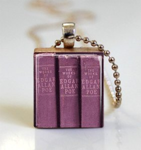Scrabble Tile Pendant-The Works of Edgar Allan Poe by Missing Pieces Studio
