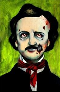 Zombie Edgar Allan Poe Poster Print by Erika Jane