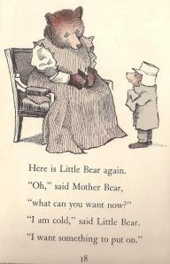 Little Bear wearing my favourite hat