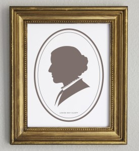 Louisa May Alcott Classic Profile Portrait by Hello Grey Day