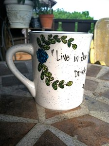 Ralph Waldo Emerson Quote Mug by Ophelia's Gypsy Caravan