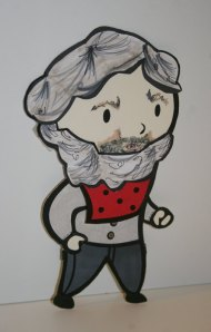 Walt Whitman Paper Doll by as a paper doll
