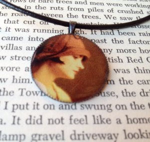 Dorothy Parker Pendant Necklace by Sunny Raven Designs