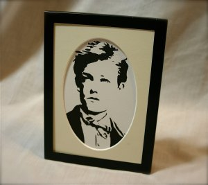 Arthur Rimbaud stencil print by Chiaroscuro