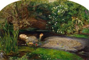 I haven't trotted out Millais' Ophelia for awhile, but she is perfect for so many situations.