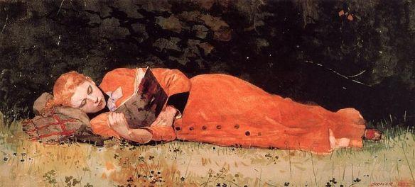 Winslow Homer, The New Novel (1877).
