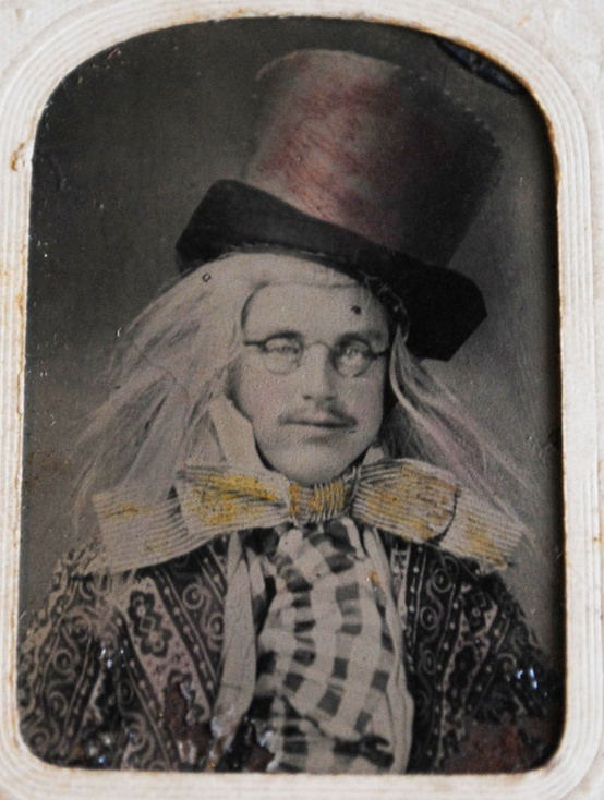 "19th century actor in character as ""The Hatter"""