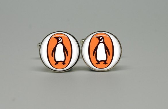 Penguin Books Cuff Links by Hello Goodbye Again