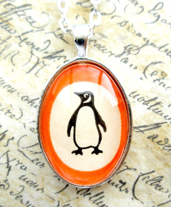 Penguin Books Pendant Necklace by Jon Turner