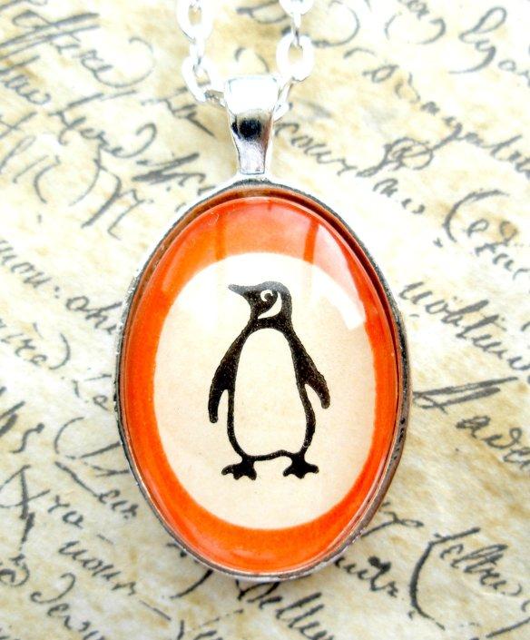 Penguin Books Pendant Necklace by Jon Turner
