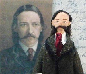 Robert Louis Stevenson Miniature Doll by Uneek Doll Designs