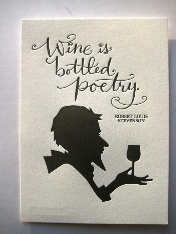 Robert Louis Stevenson Quote-Letterpress Art Print by tag team tompkins