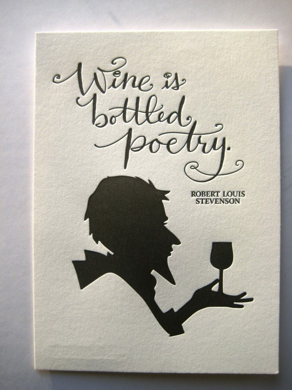 Robert Louis Stevenson Quote-Letterpress Art Print by tag team tompkins