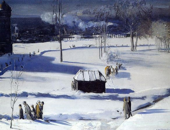 Blue Snow the Battery by George Bellows. 1910.