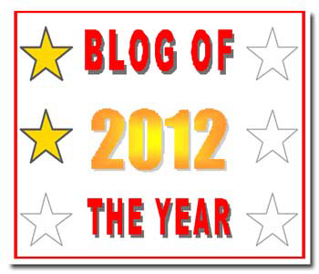 Blog of the Year Award 2 stars