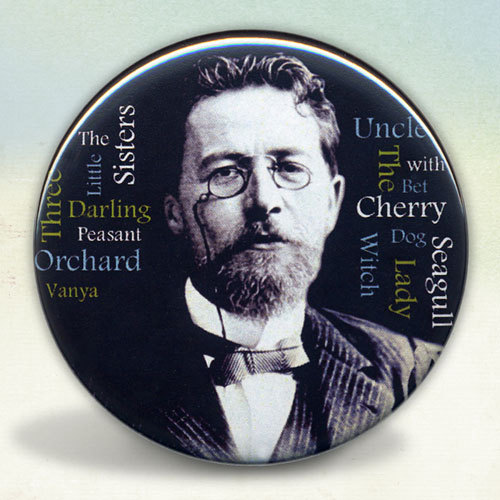 Anton Chekhov Pocket Mirror by Tartx