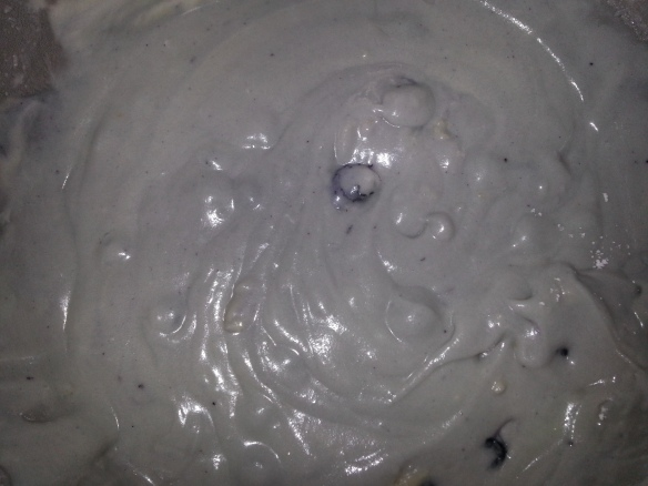 Blueberry-Vanilla Cupcake Batter