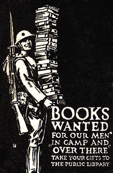 Books Wanted, Harper's Monthly Magazine cover, December 1918