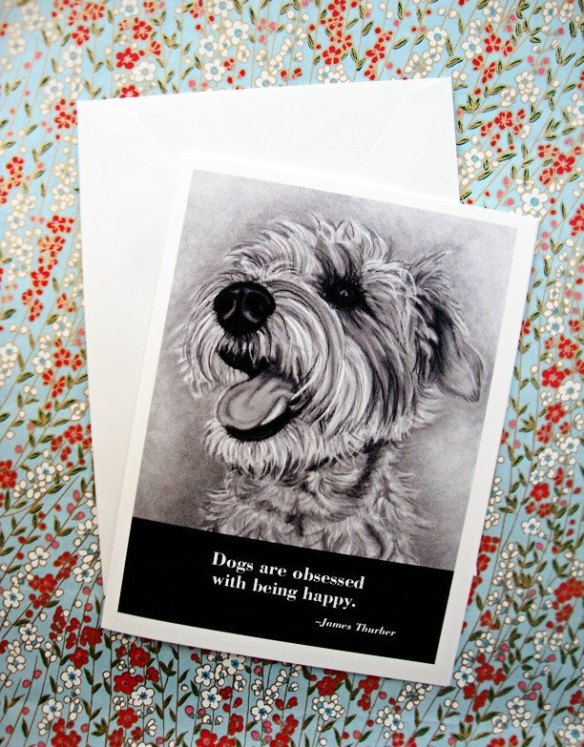Dog Card with James Thurber Quote by i heart dogs studio