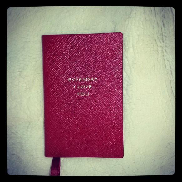 Everyday I Love You Notebook from Smythson