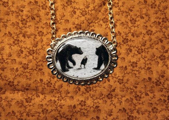 Gashlycrumb Tinies Eaten by Bears Necklace by Autumn Bear Studios