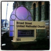 Purple Church Sign