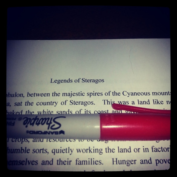 Manuscript, Red Marker at the Ready