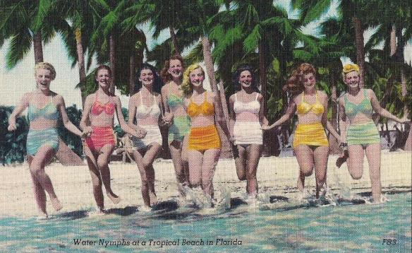 Water Nymphs at a Tropical Beach in Florida