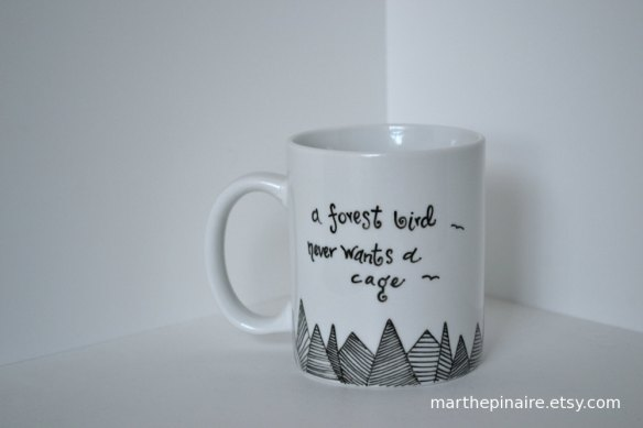 Henrik Ibsen quote mug by Marthe Pinaire