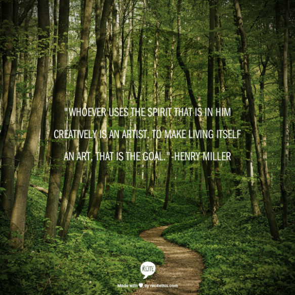 Henry Miller Quote Poster