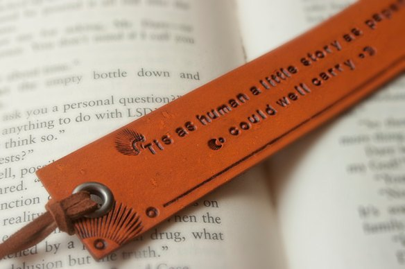 James Joyce quote leather bookmark by Mesa Dreams
