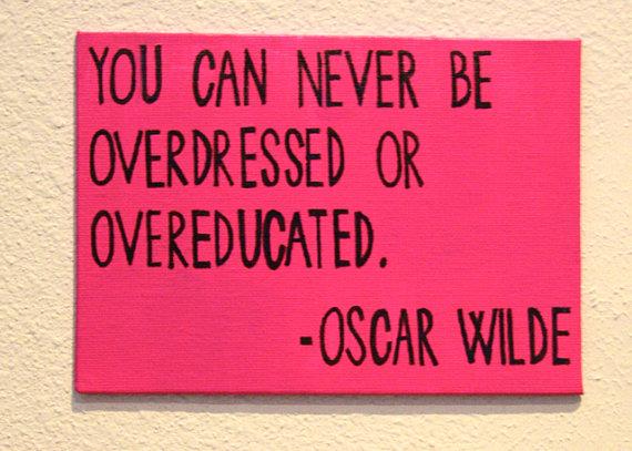 Oscar Wilde Quote Canvas by mipaisfeliz