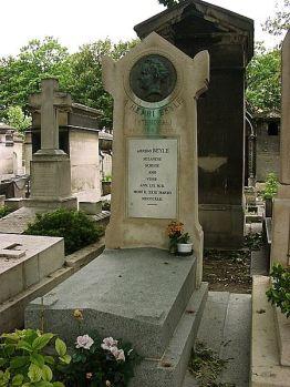Stendhal's grave in Montmartre, Paris