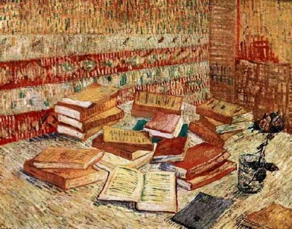 Still Life with French Novels and a Rose, Vincent van Gogh, 1887