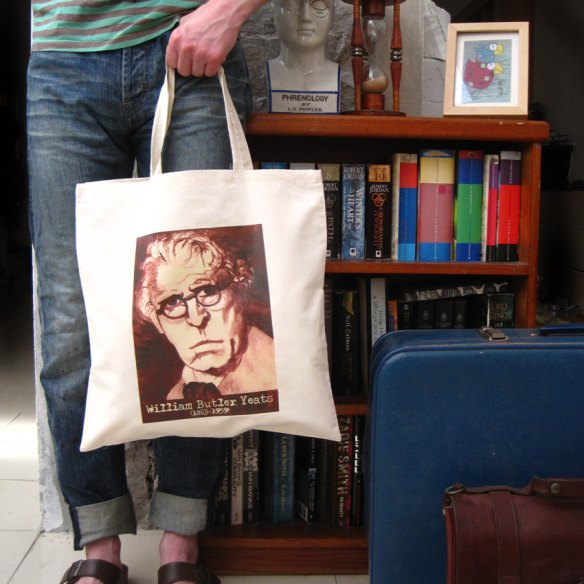 William Butler Yeats Canvas Tote Bag by Nice Day Designs
