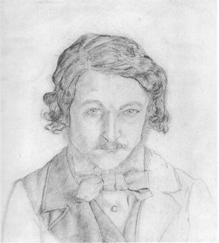 William Morris, Self-portrait, 1856