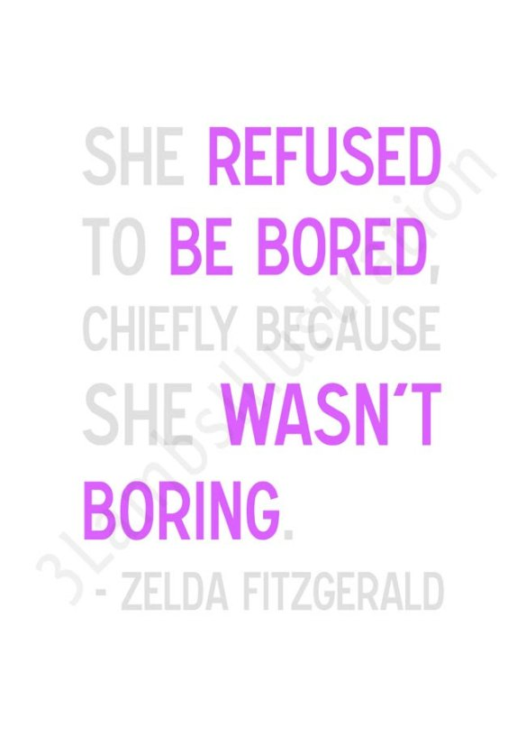 Zelda Fitzgerald Quote Print by 3 Lambs Illustration