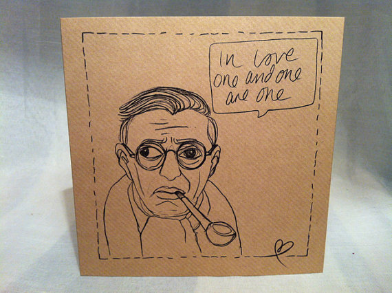 Jean-Paul Sartre quote card by being and everythingness