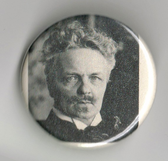 August Strindberg Pinback Button by BuyTheLightoftheMoon
