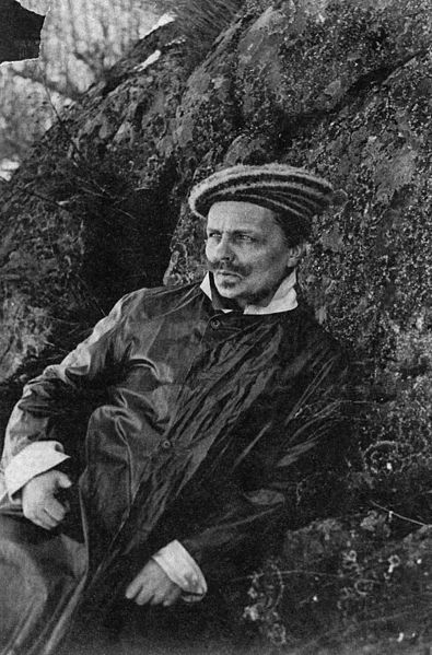 August Strindberg, Self-Portrait. Circa 1891.