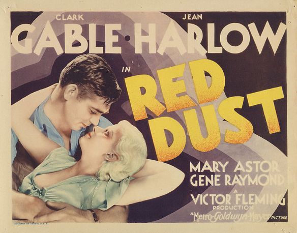 Red Dust publicity poster, 1932