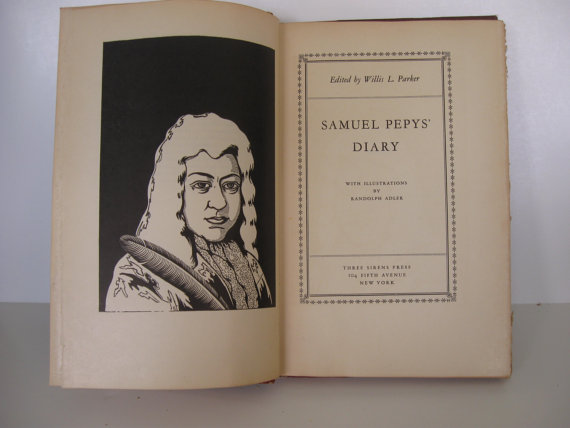Samuel Pepys' Diary at Lady Frans Library