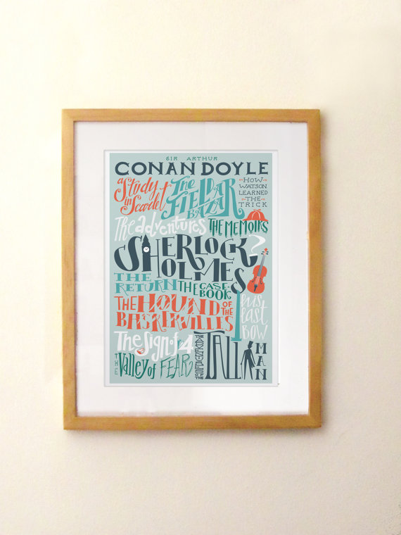 Sir Arthur Conan Doyle print by Pemberley Pond