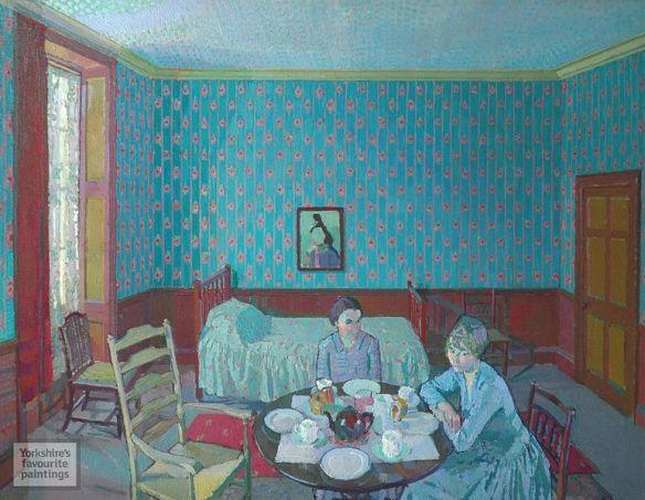 Tea in the Bedsitter by Harold Gilman, 1916
