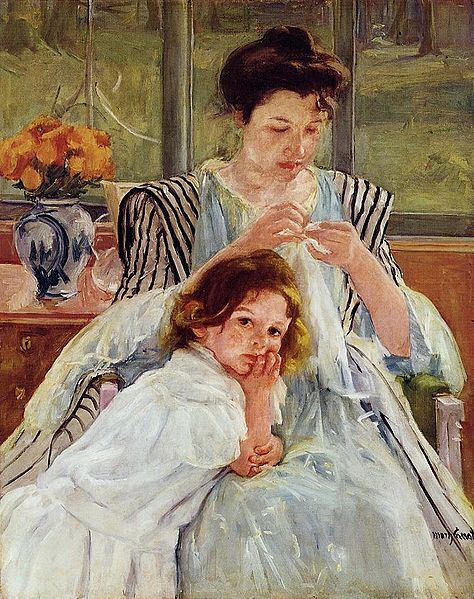 Mother Sewing by Mary Cassatt
