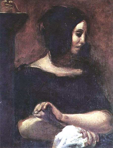 George Sand by Eugene Delacroix, 1838